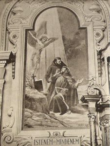 Szent Ferenc freskó